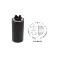 "Vibrant Universal Catch Can 4"" OD Recessed Filter Top - Anodized Black"